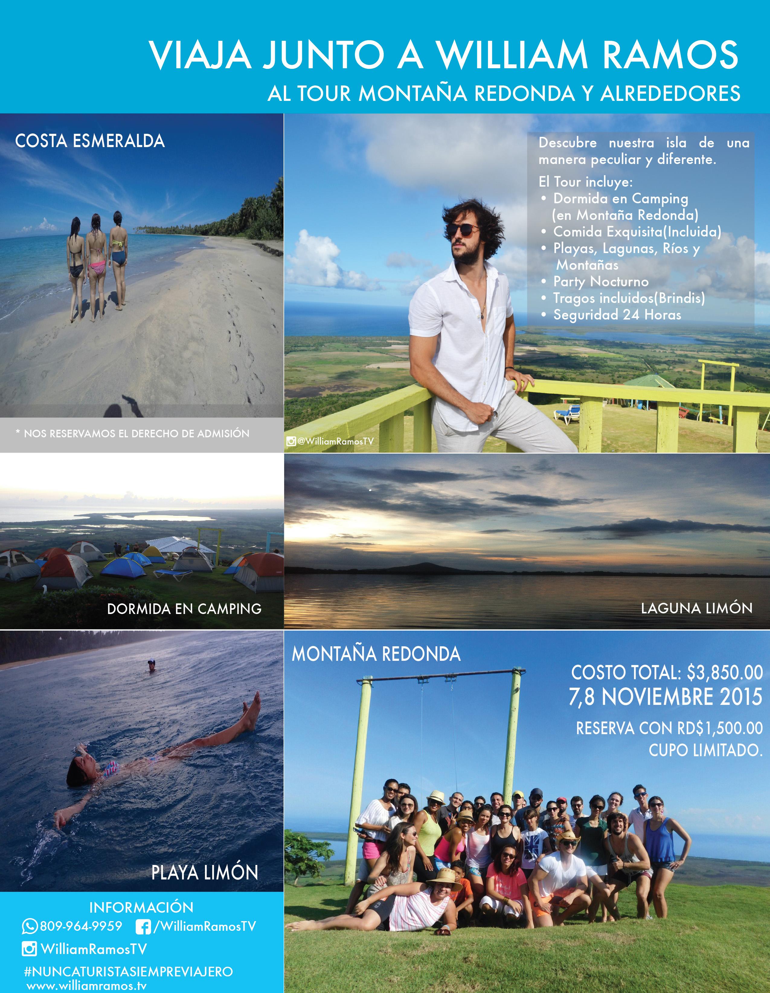Info: Tour Montaña Redonda & Alrededores 7 al 8 de Noviembre