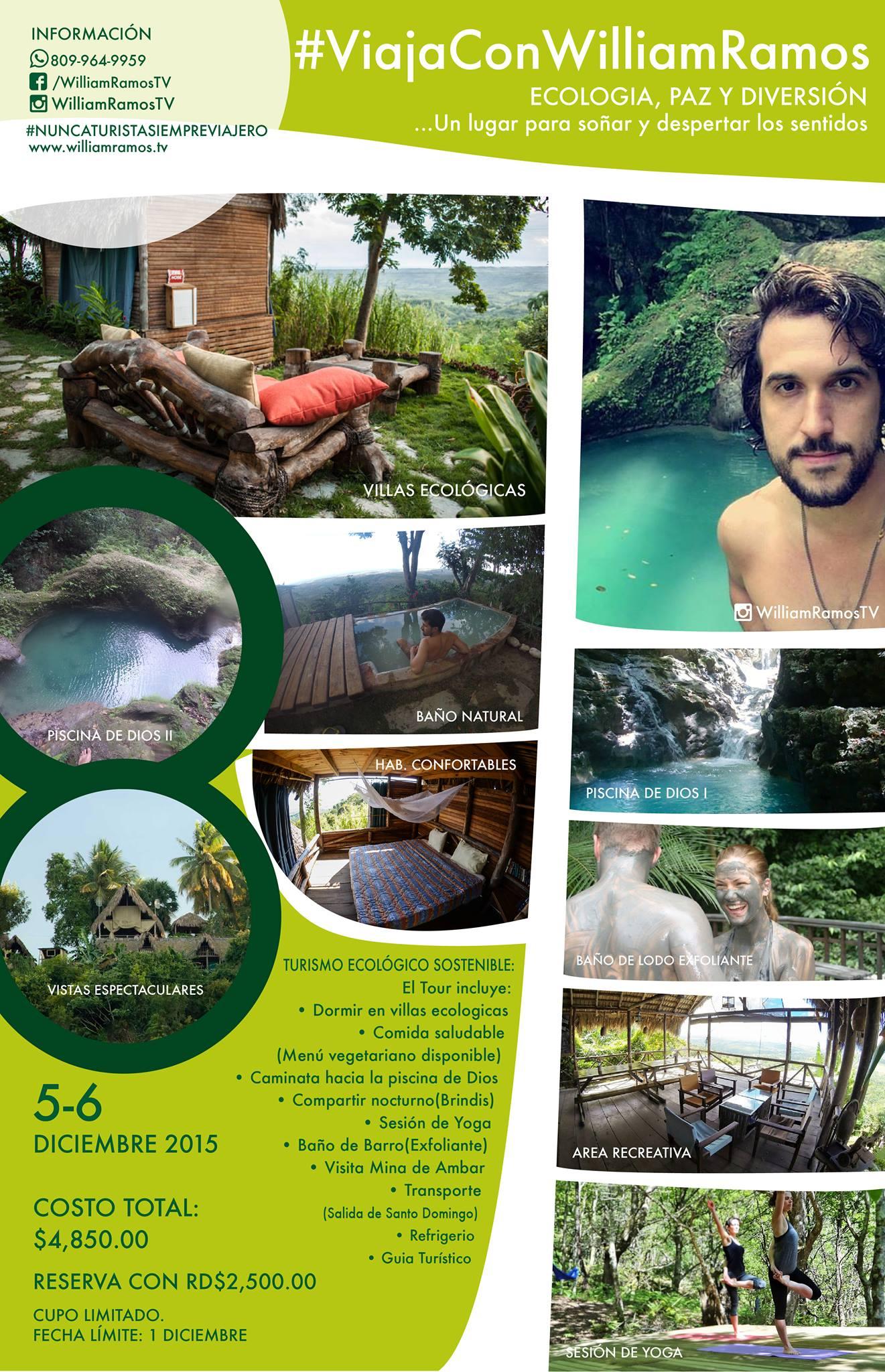 Reserva & Información del Tour Ecológico Tubagua del 5 al 6 de Diciembre