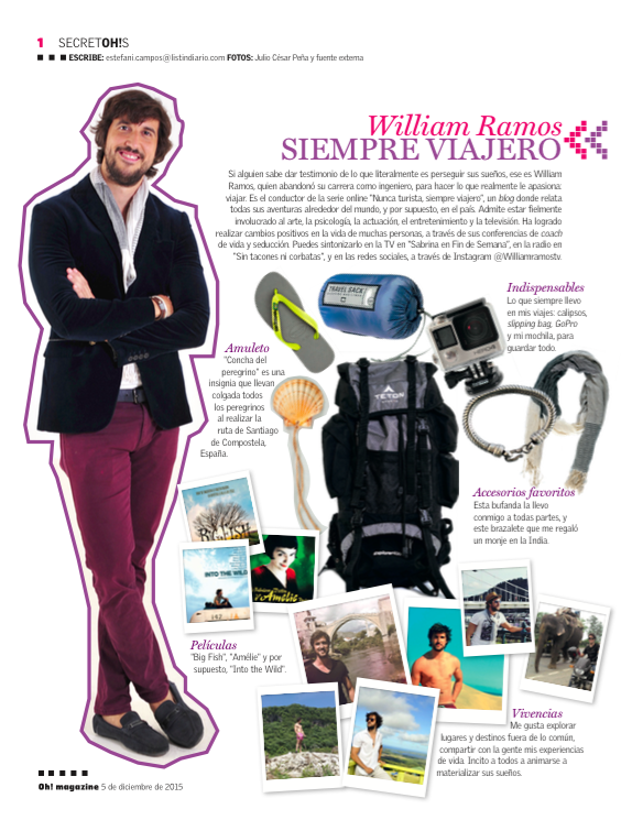 Entrevista Oh Magazine – William Ramos