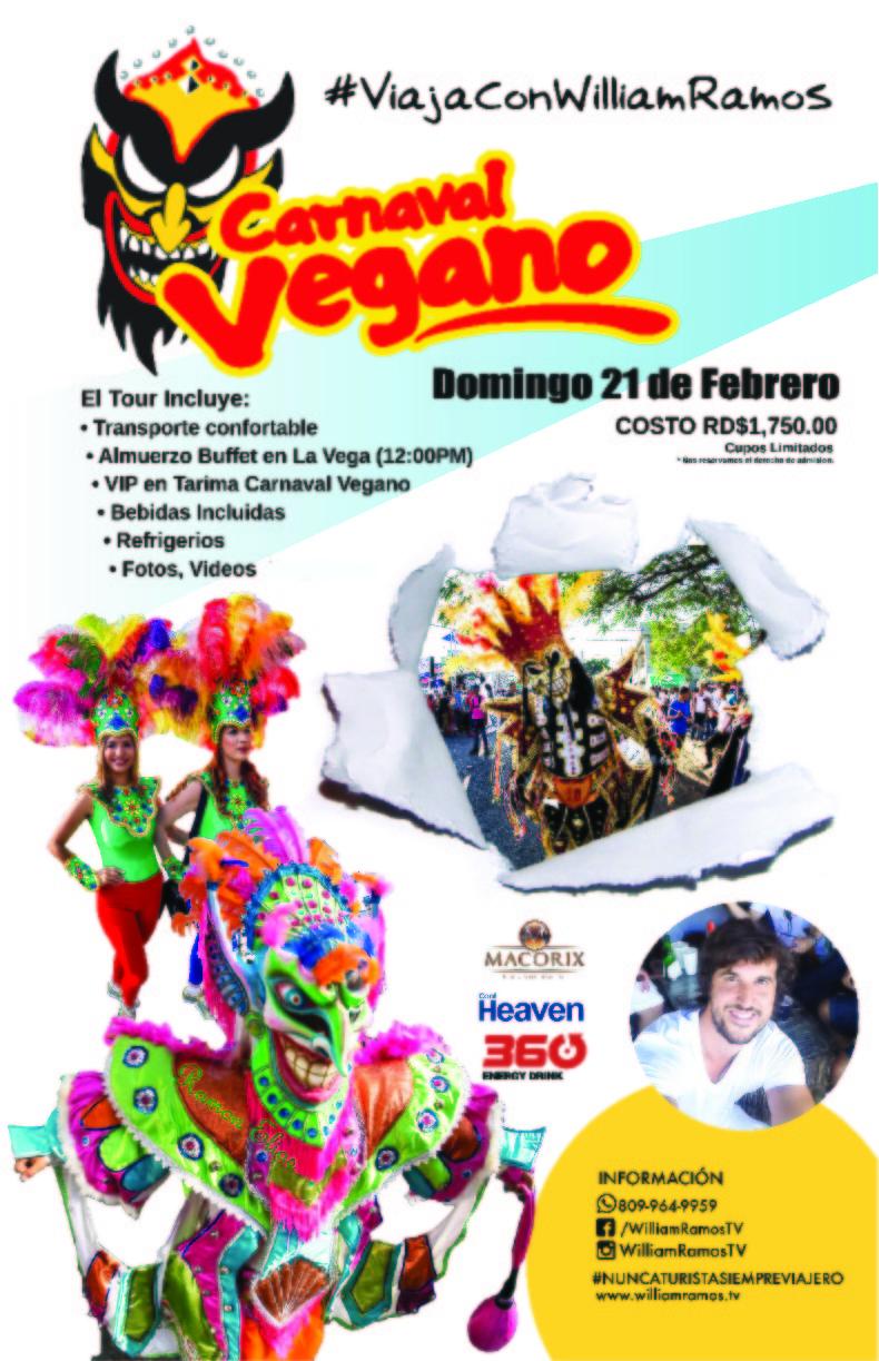 Tour Carnaval Vegano VIP 2016