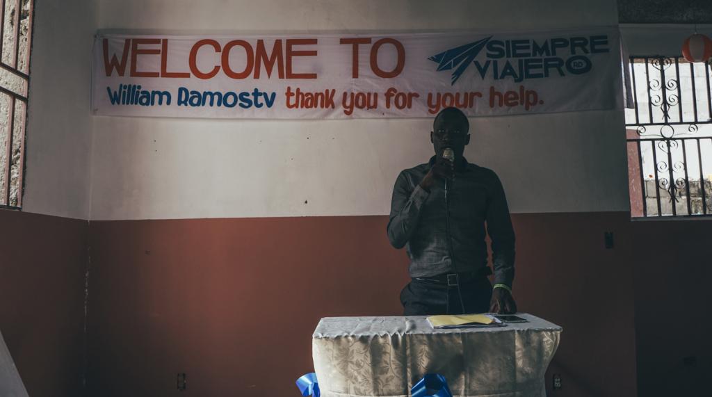 Augusnel Charlot guia en Haití
